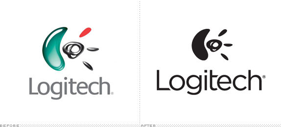 Logitech Logo, Before and After