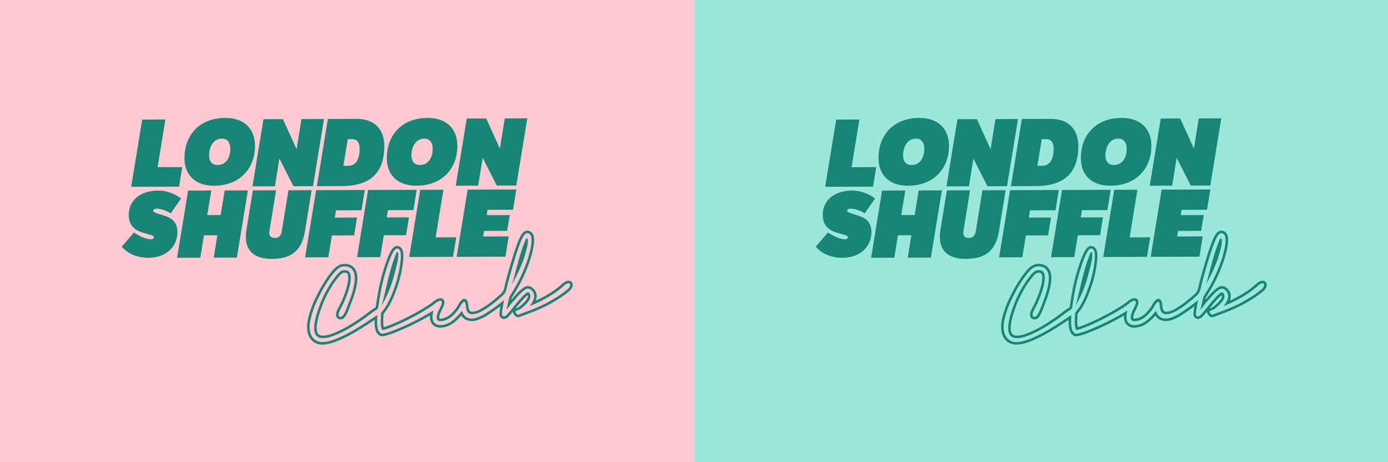 New Logo and Identity for London Shuffle Club by A New Kind of Kick