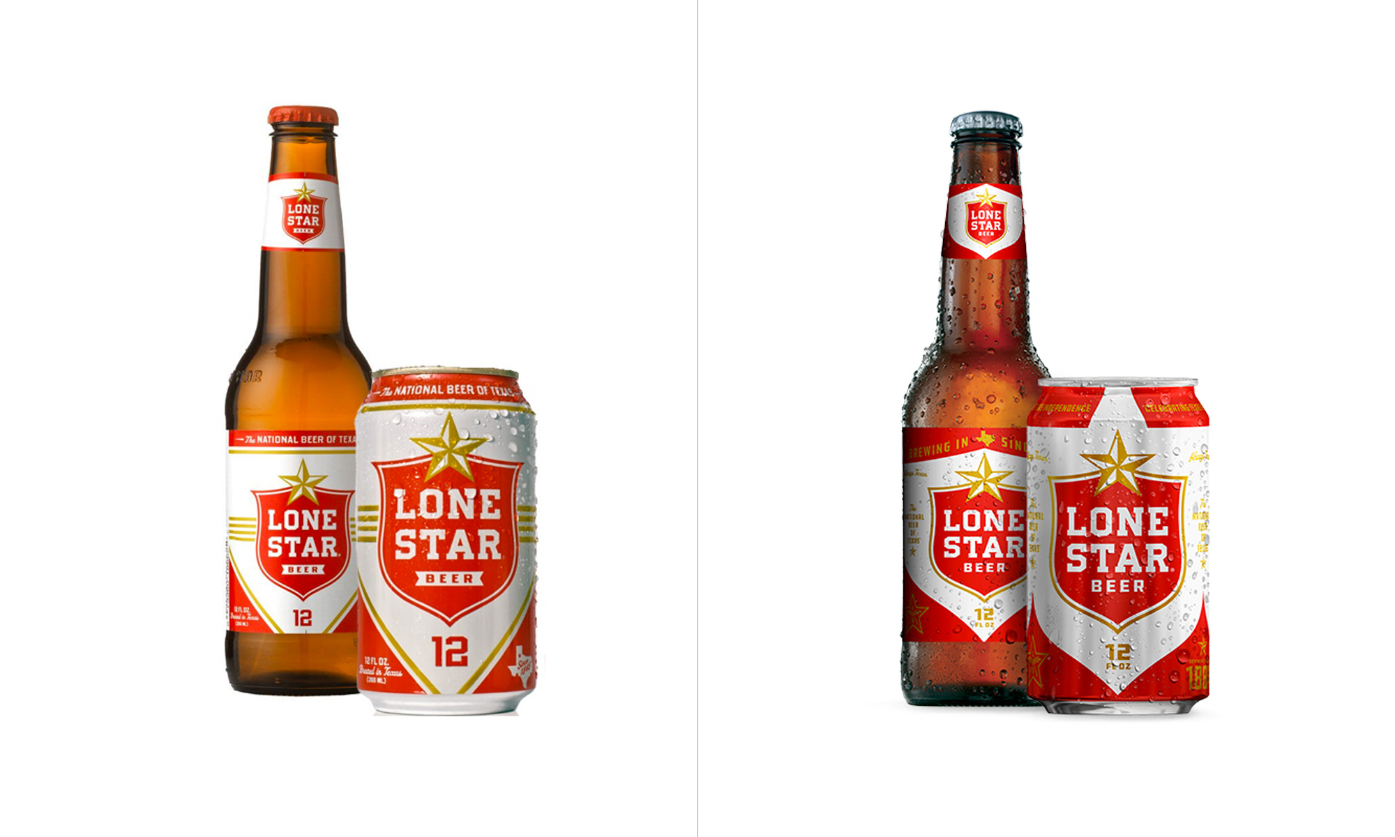 New Logo, Identity, and Packaging for Lone Star Brewery by Switch