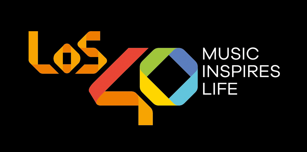 New Logo for Los 40 by Gold Mercury International