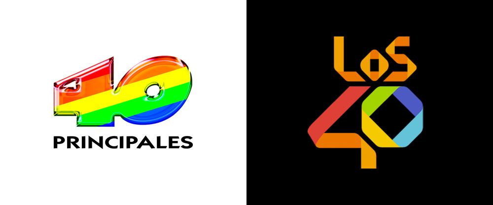 New Logo for Los 40 by Gold Mercury International