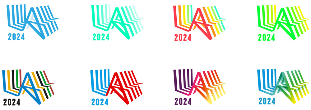 New Logo and Identity for LA 2024 Olympic Bid City by RE:
