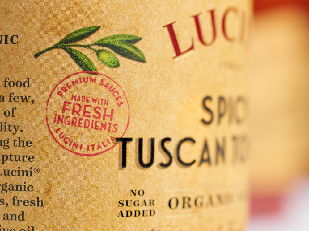 New Logo and Packaging for Lucini by Werner Design Werks