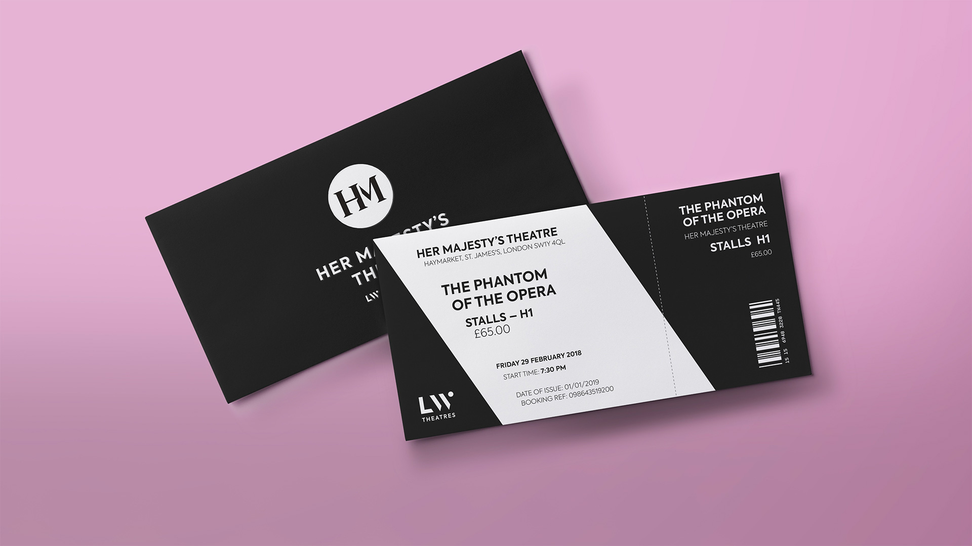 New Logo and Identity for LW Theatres by Elmwood