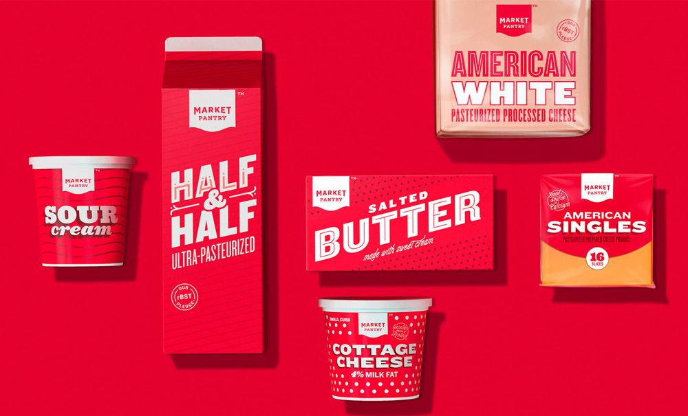New Packaging for Market Pantry done In-house with Pearlfisher