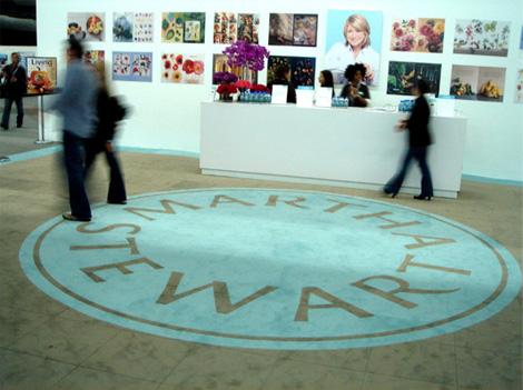 Martha Stewart Logo on the Floor