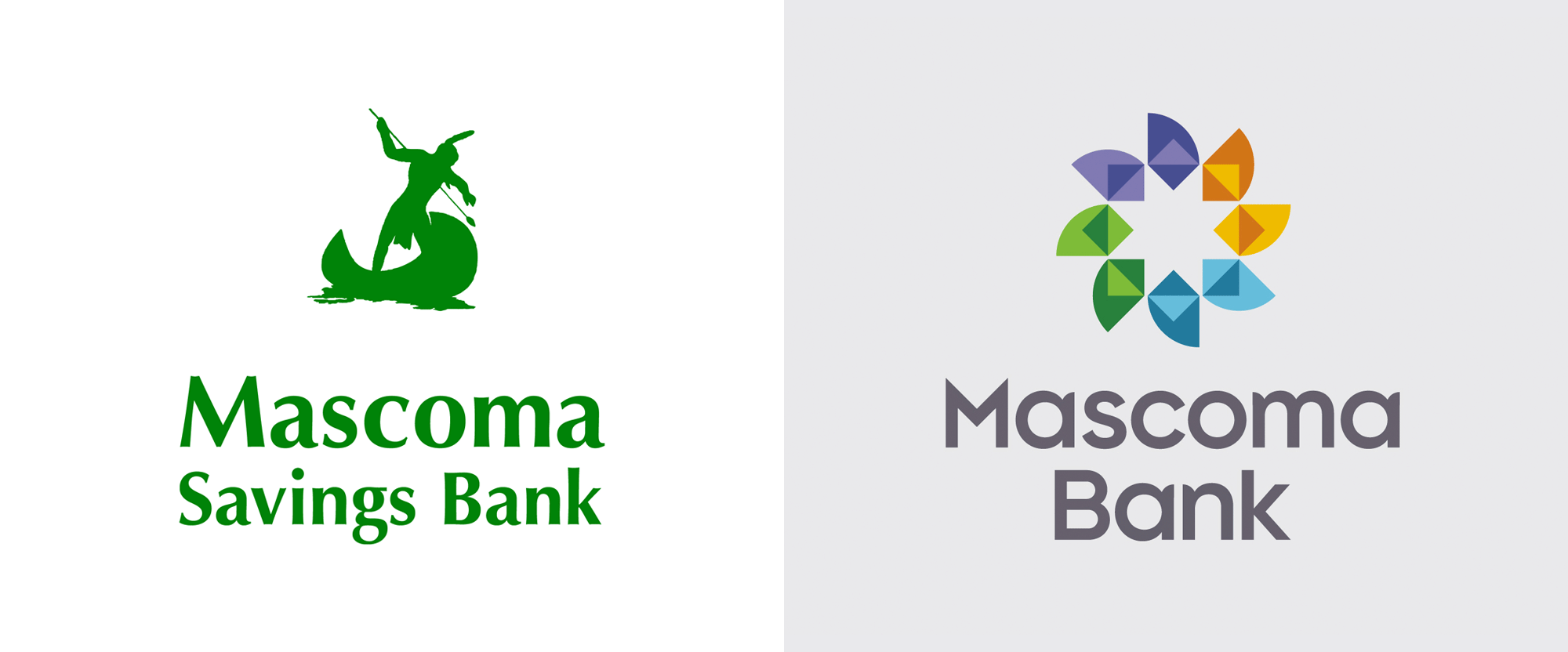New Logo and Identity for Mascoma Bank by Solidarity of Unbridled Labour
