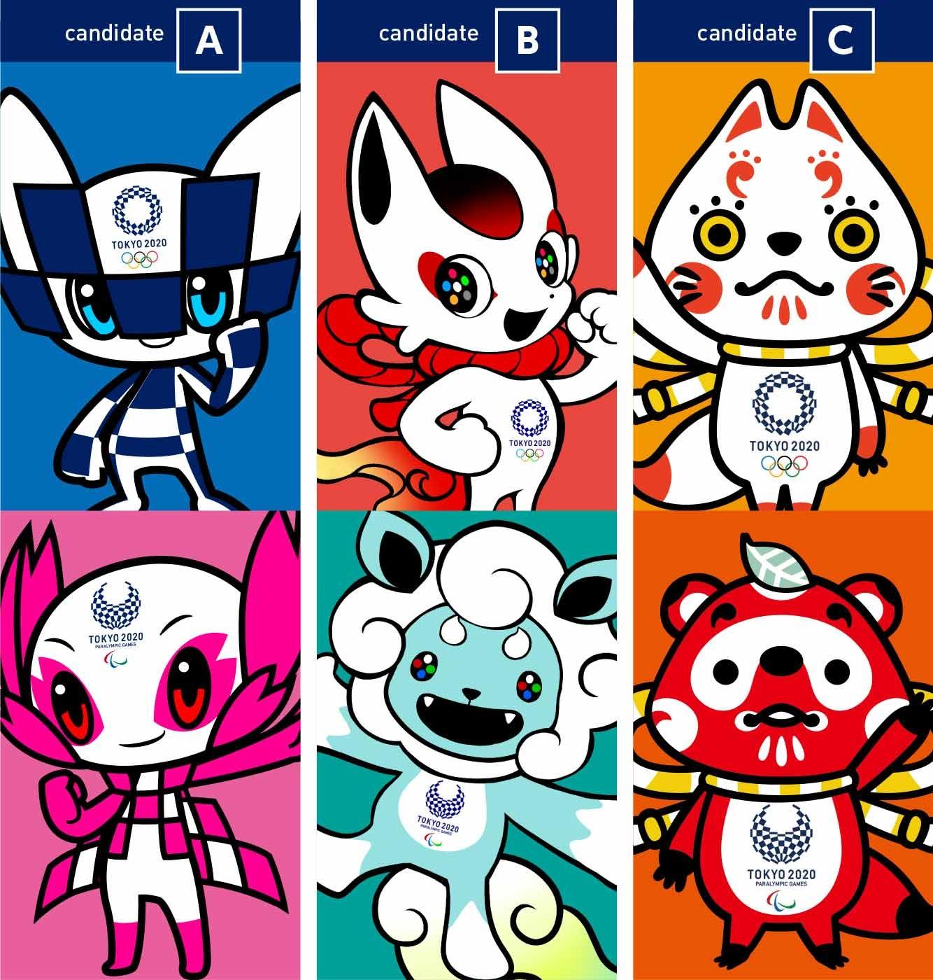 Tokyo 2020 Mascot Candidates
