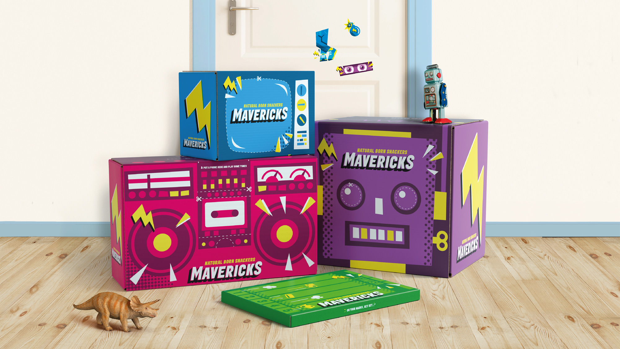New Logo and Packaging for Mavericks Snacks by Jones Knowles Ritchie