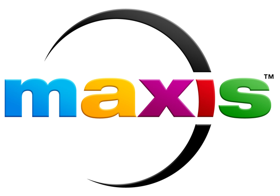 Maxis Logo, Before and After