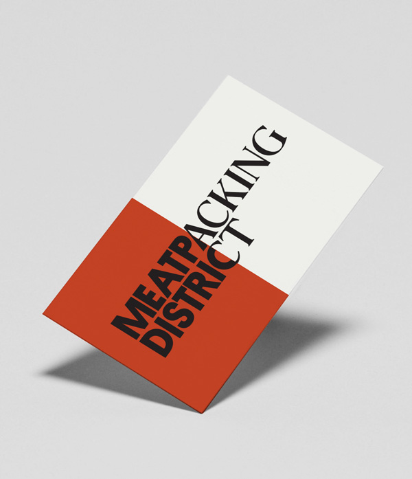 New Logo and Identity for the Meatpacking District by Base