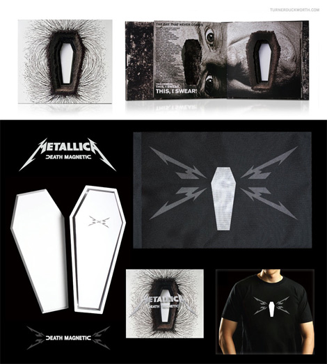Metallica Death Magnetic Packaging by Turner Duckworth
