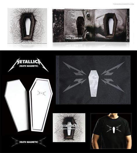 Metallica Death Magnetic Packaging by Turner Duckworth