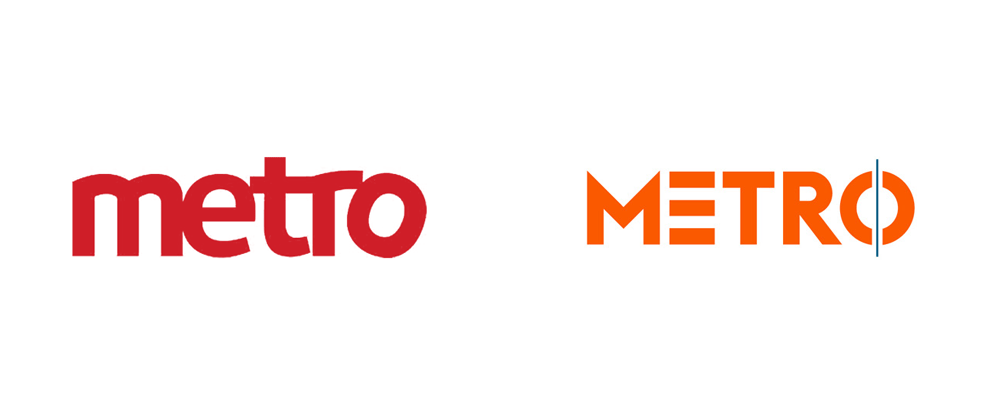 brand new new logo and identity for metro by uvmw