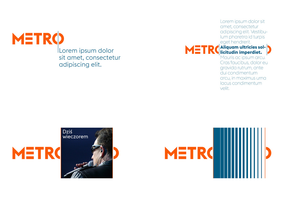 New Logo and Identity for Metro by UVMW