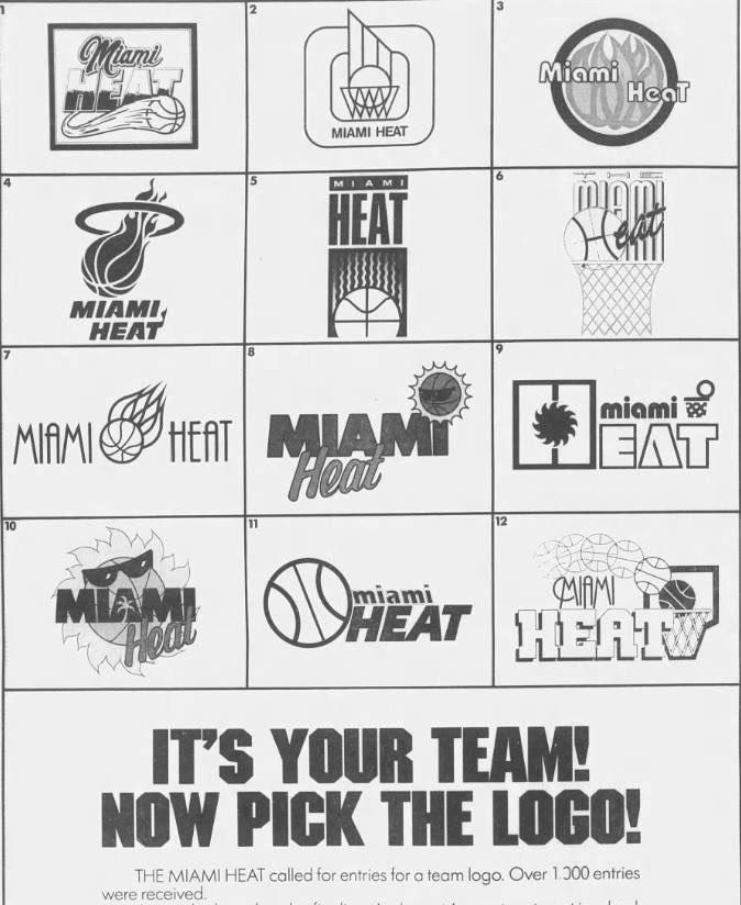 Original Miami Heat Logo Options