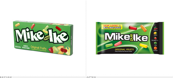 Mike and Ike Logo, Before and After