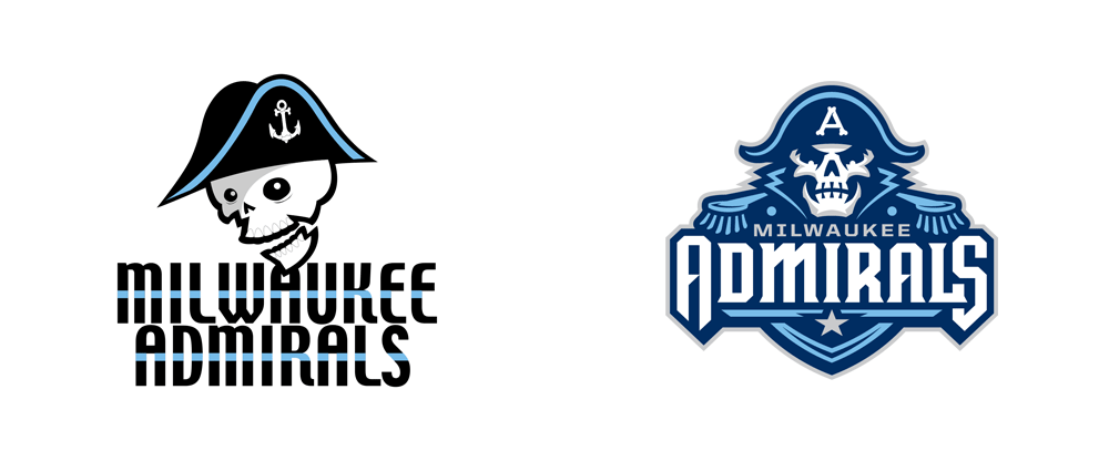 New Logos for Milwaukee Admirals by Studio Simon