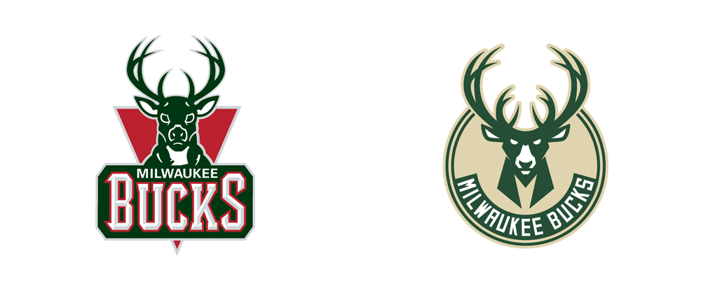 New Logos for Milwaukee Bucks by Doubleday & Cartwright