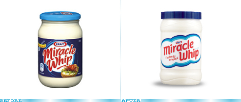 Miracle Whip Packaging, Before and After