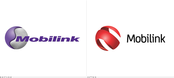 Mobilink Logo, Before and After