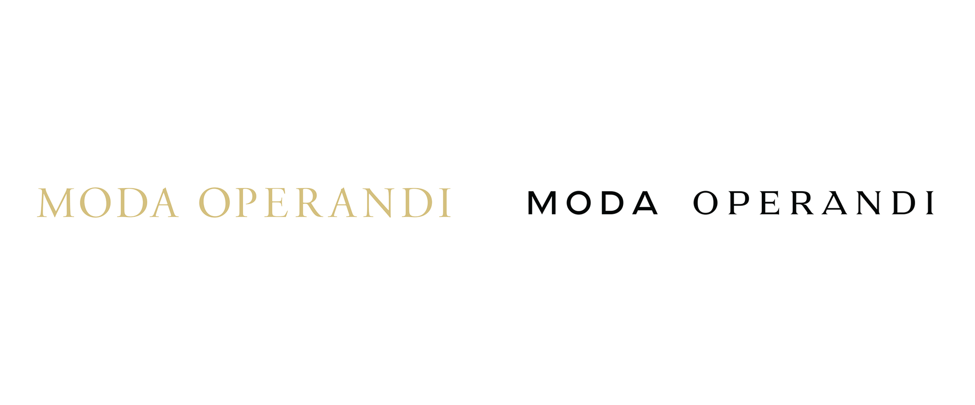 New Logo and Identity for Moda Operandi by Lotta Nieminen