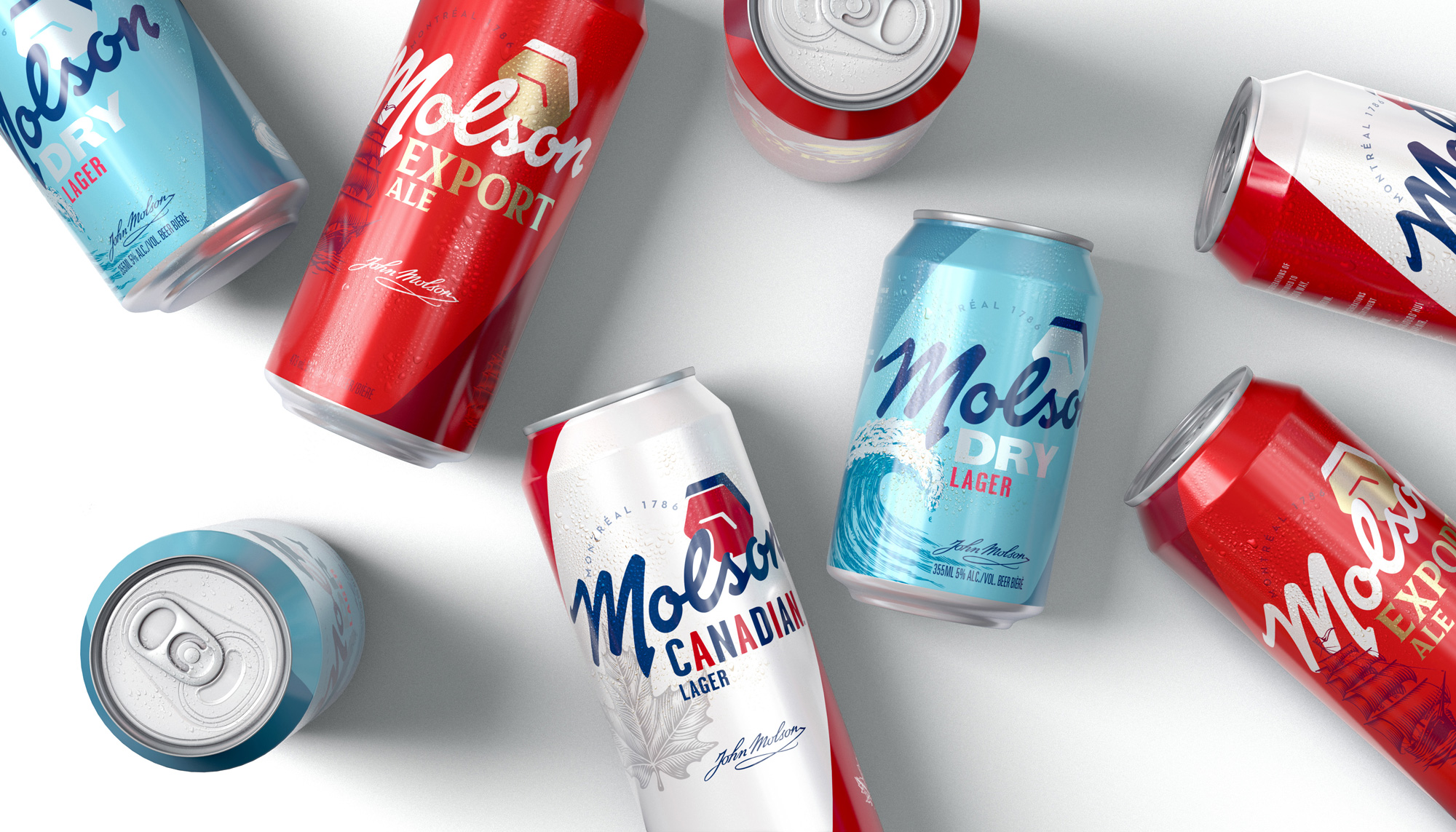 New Logo and Packaging for Molson Brands by BrandOpus