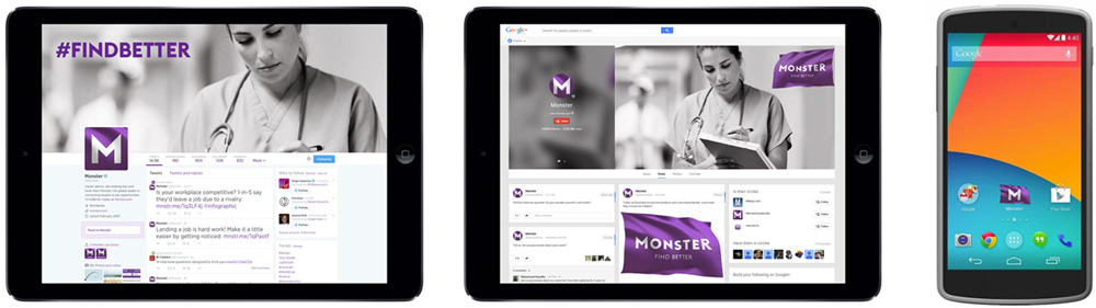 New Logo and Identity for Monster.com by Siegel+Gale
