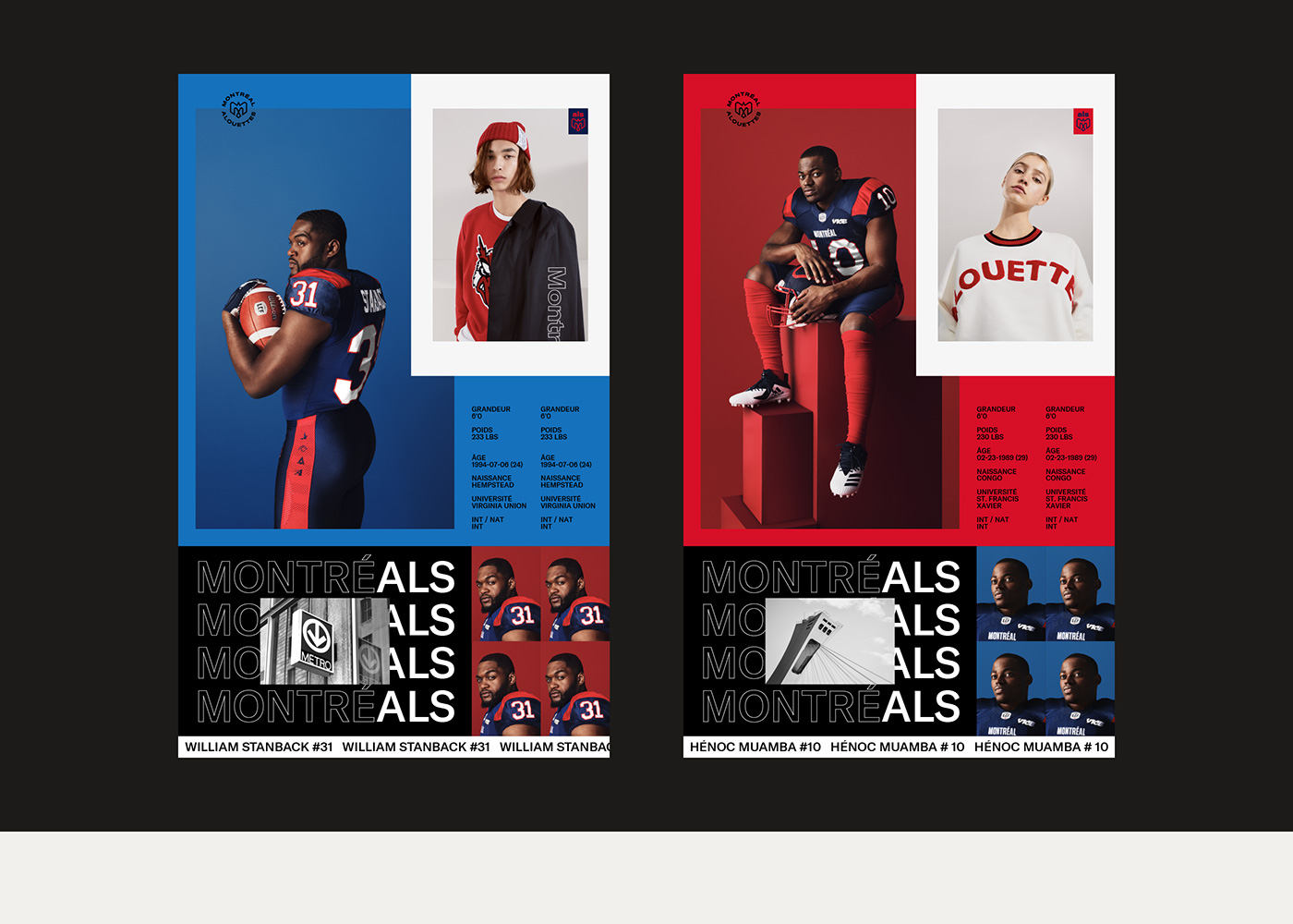 New Logo and Identity for Montréal Alouettes by GRDN Studio