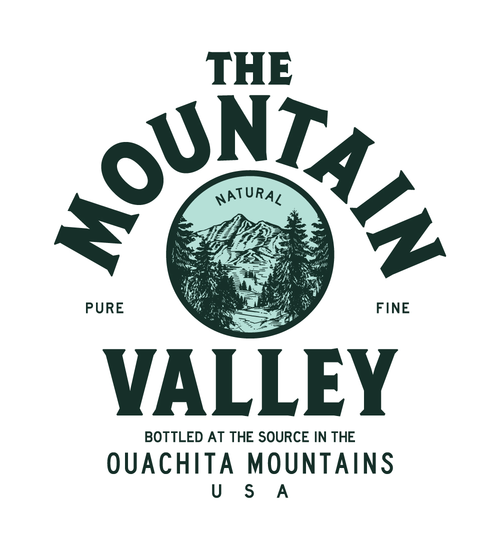 spring water logo. new logo and packaging for mountain valley spring water by co op e