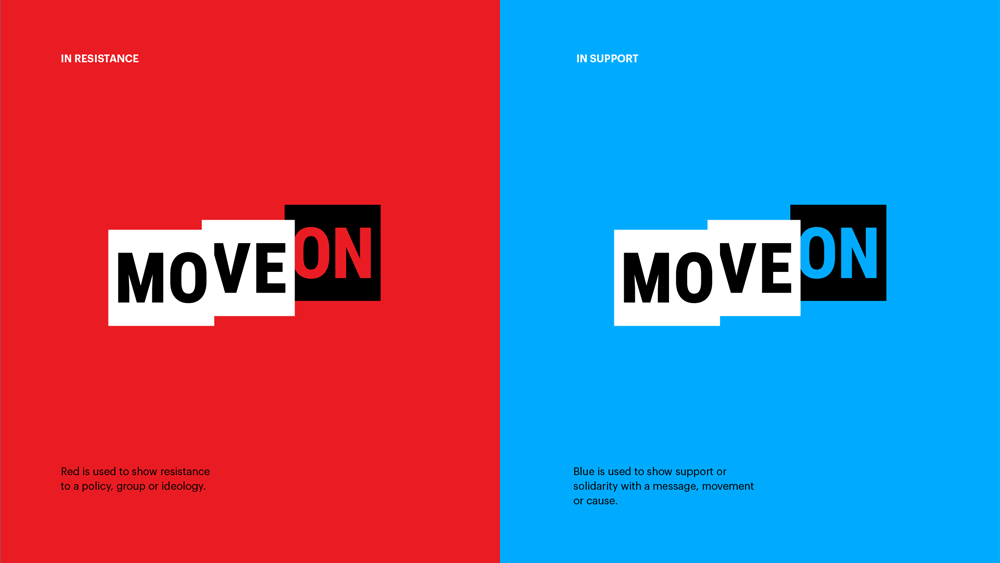 New Logo and Identity for MoveOn by RedPeak