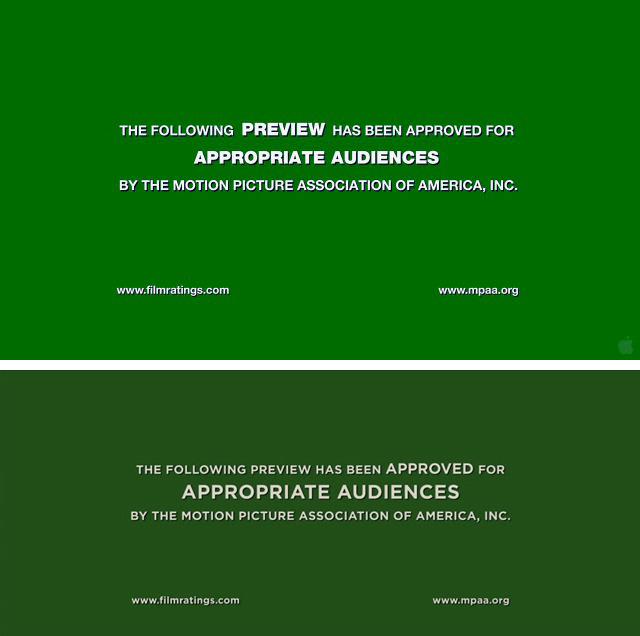 New MPAA Trailer Screens