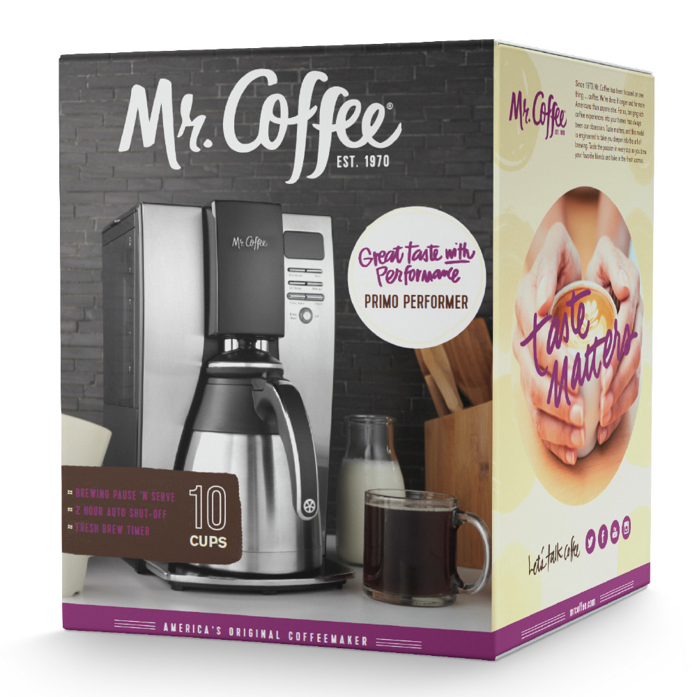 New Logo and Packaging for Mr. Coffee by Blacktop Creative