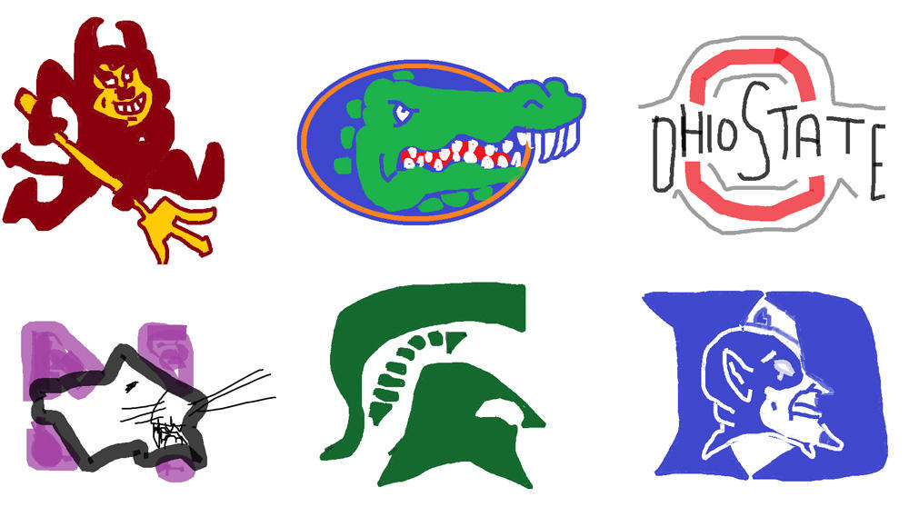 Division I Logos in MS Paint