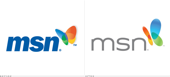 MSN Logo, Before and After