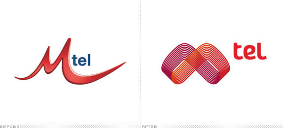 Mtel Logo, Before and After