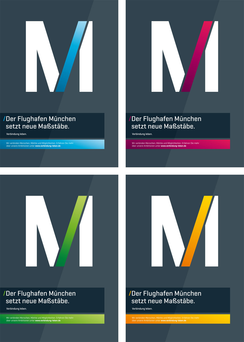 brand new new logo and identity for munich airport by interbrand. Black Bedroom Furniture Sets. Home Design Ideas