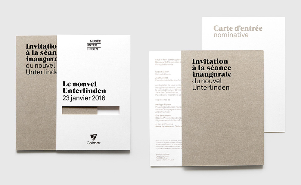 New Logo and Identity for Musée Unterlinden by NEW ID