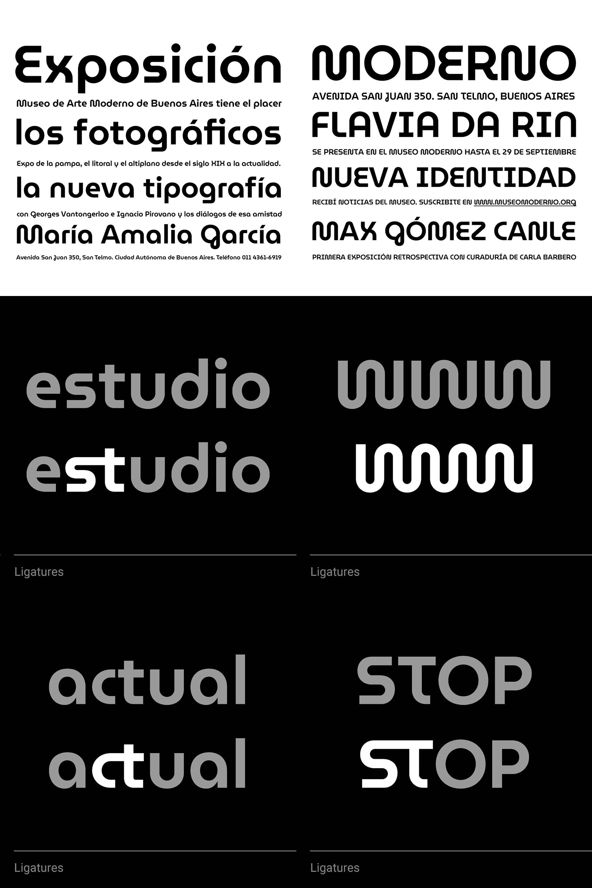 New Logo and Identity for Museo Moderno by Estudio Garricho and Omnibus-Type