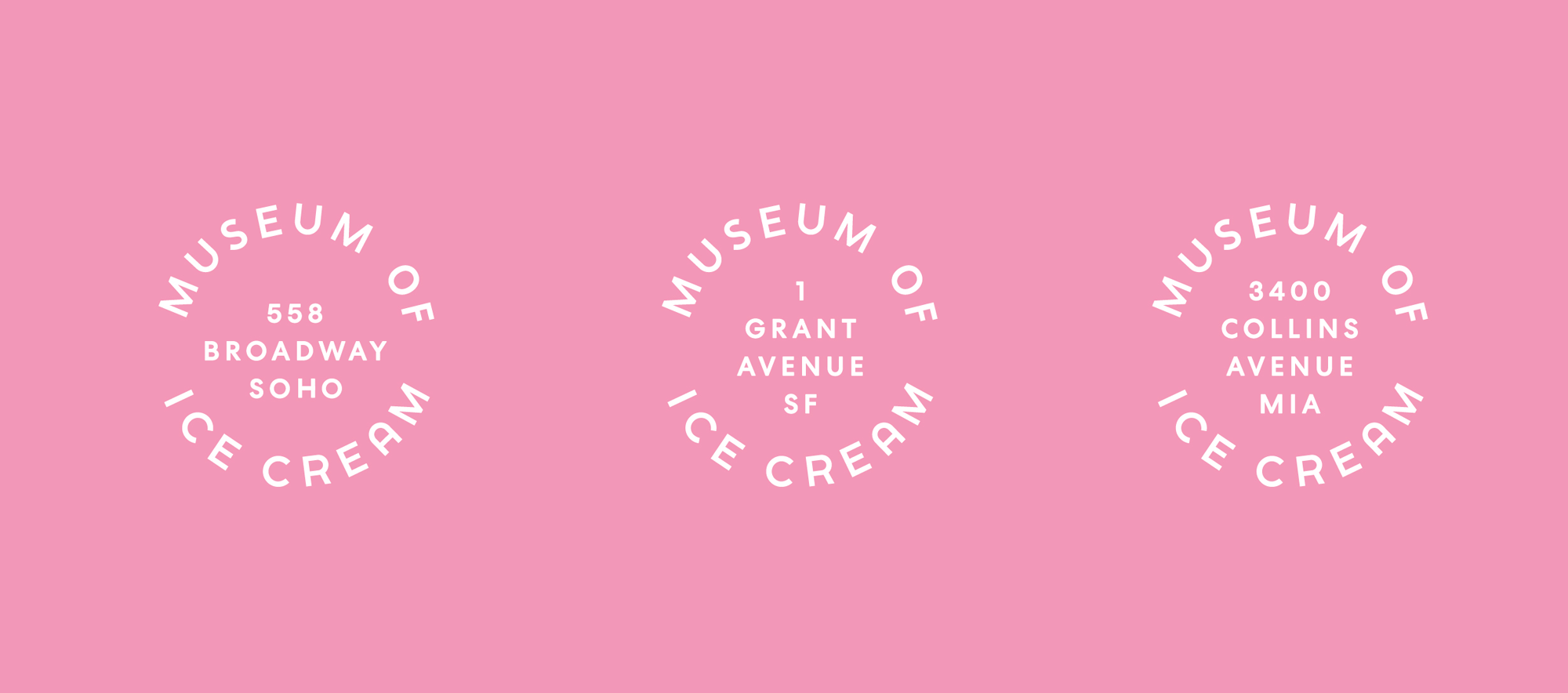 New Logo and Identity for Museum of Ice Cream by The Working Assembly
