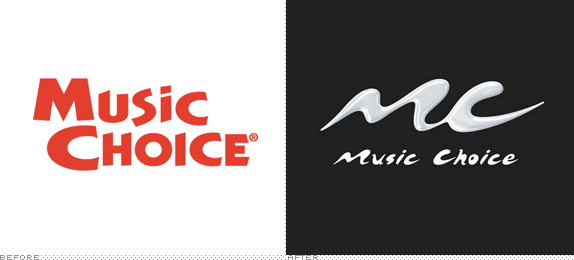 Music Choice Logo, Before and After