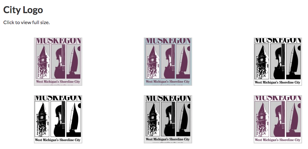 Muskegon Defaults to Old Logo