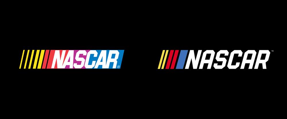 brand new new logo for nascar rh underconsideration com  nascar logo license plate frame