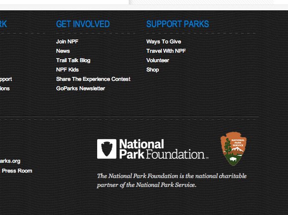 New Logos for National Park Foundation and Service by Grey