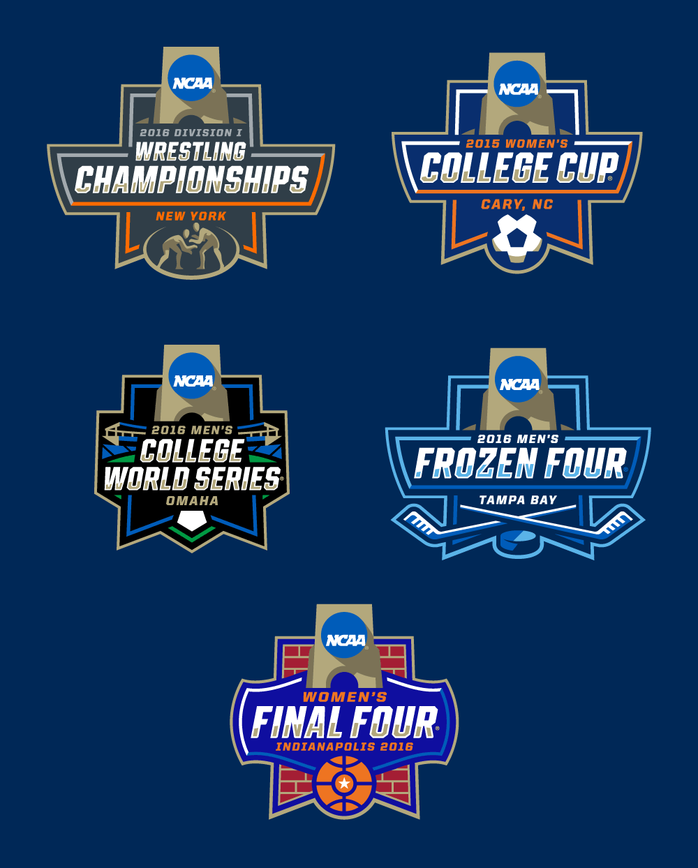 New Logos for NCAA Championships by Joe Bosack & Co