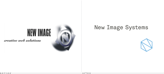 New Image Systems Logo, Before and After