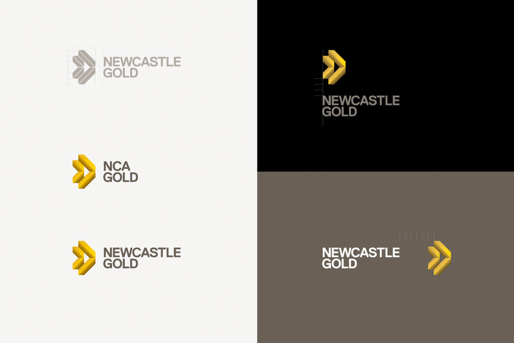 New Logo and Identity for NewCastle Gold by BR / BAUEN