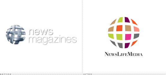 News Life Media Logo, Before and After