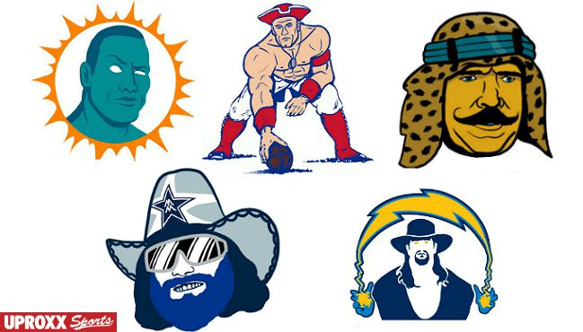 NFL Logos as Wrestlers