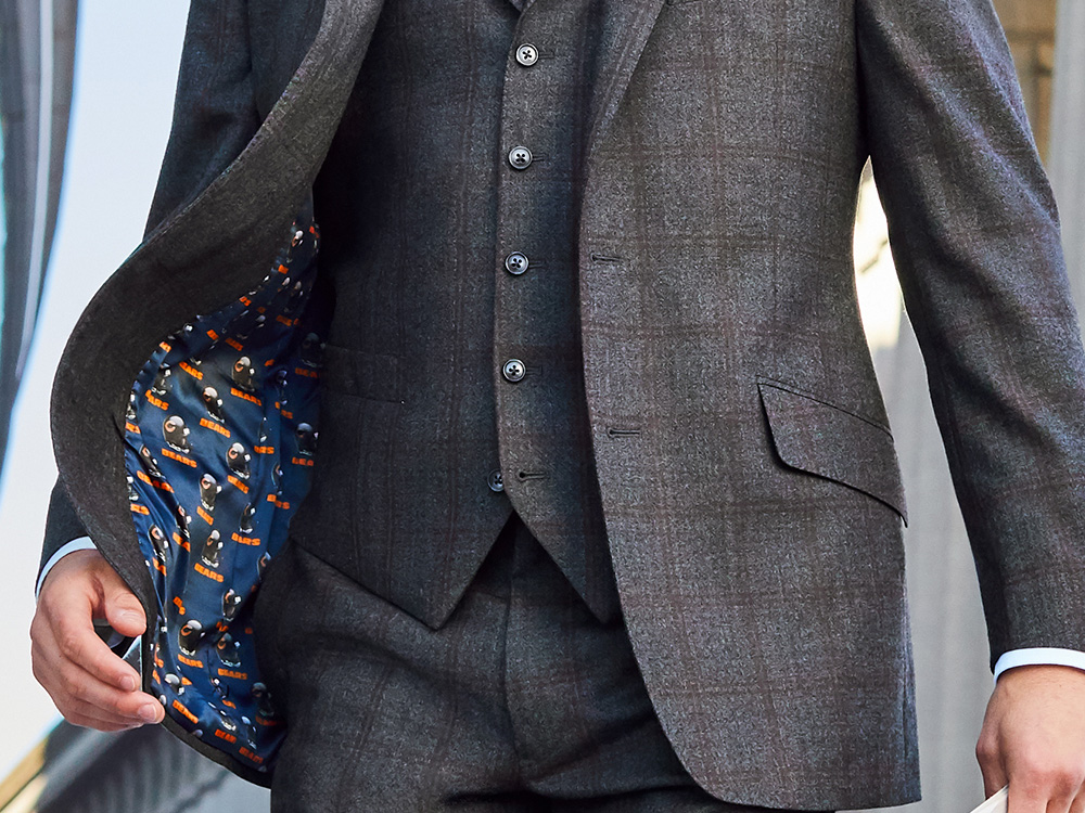 NFL-logo-lined Suits